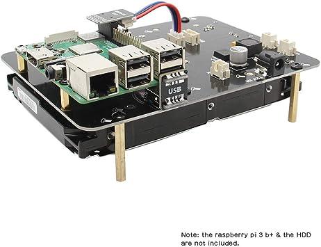 Geekworm Raspberry Pi 3 B B Plus 3b 8 9 Cm 3 5 Zoll Sata Hdd Storage Expansion Board X830 V2 0 3 5 Zoll Mobile Festplatte Modul Für Raspberry Pi 3 Modell B B