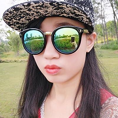 Burenqi@ Lunettes de soleil, lunettes de soleil antique circulaire, le tourisme et des lunettes anti UVA UVB