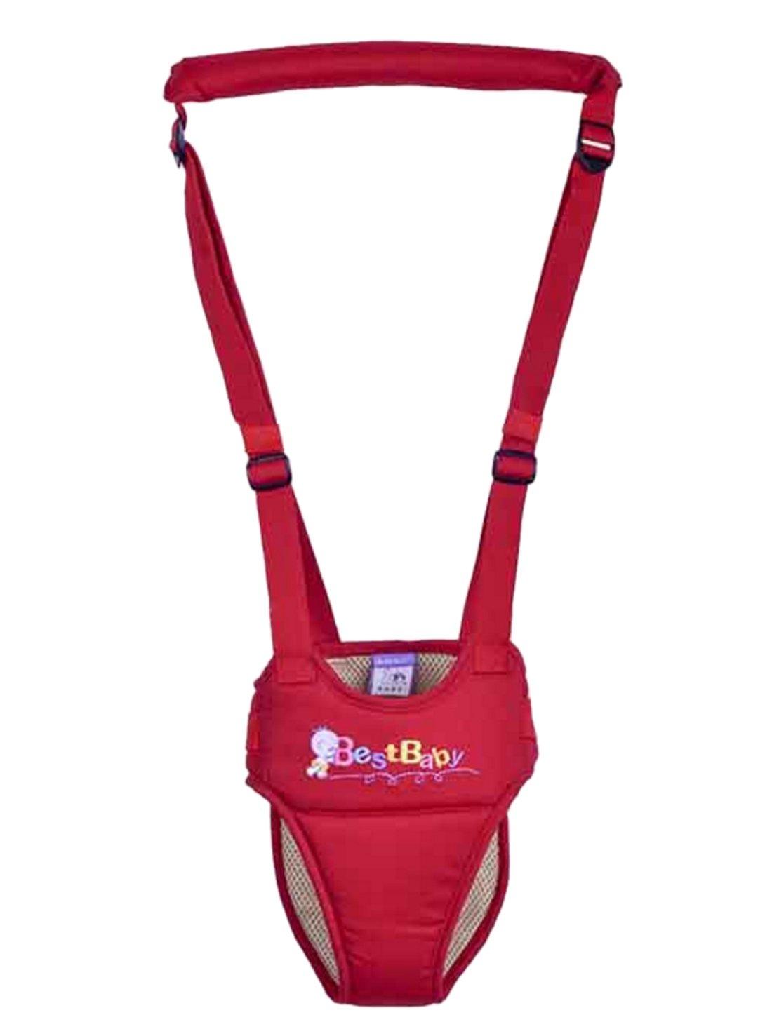 Happy Cherry - Arnés de Seguridad con Correa Andador Ajustable de Algodón Tirantes Cinta Aprender a Andar Primeros Pasos para Bebé Niños, Azul
