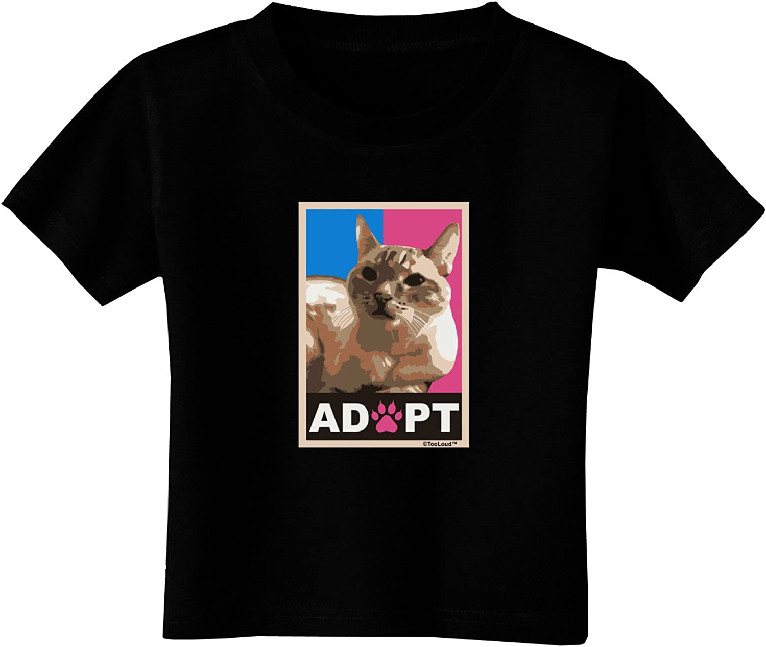TOOLOUD Adopt Cute Kitty Poster Toddler T-Shirt Dark