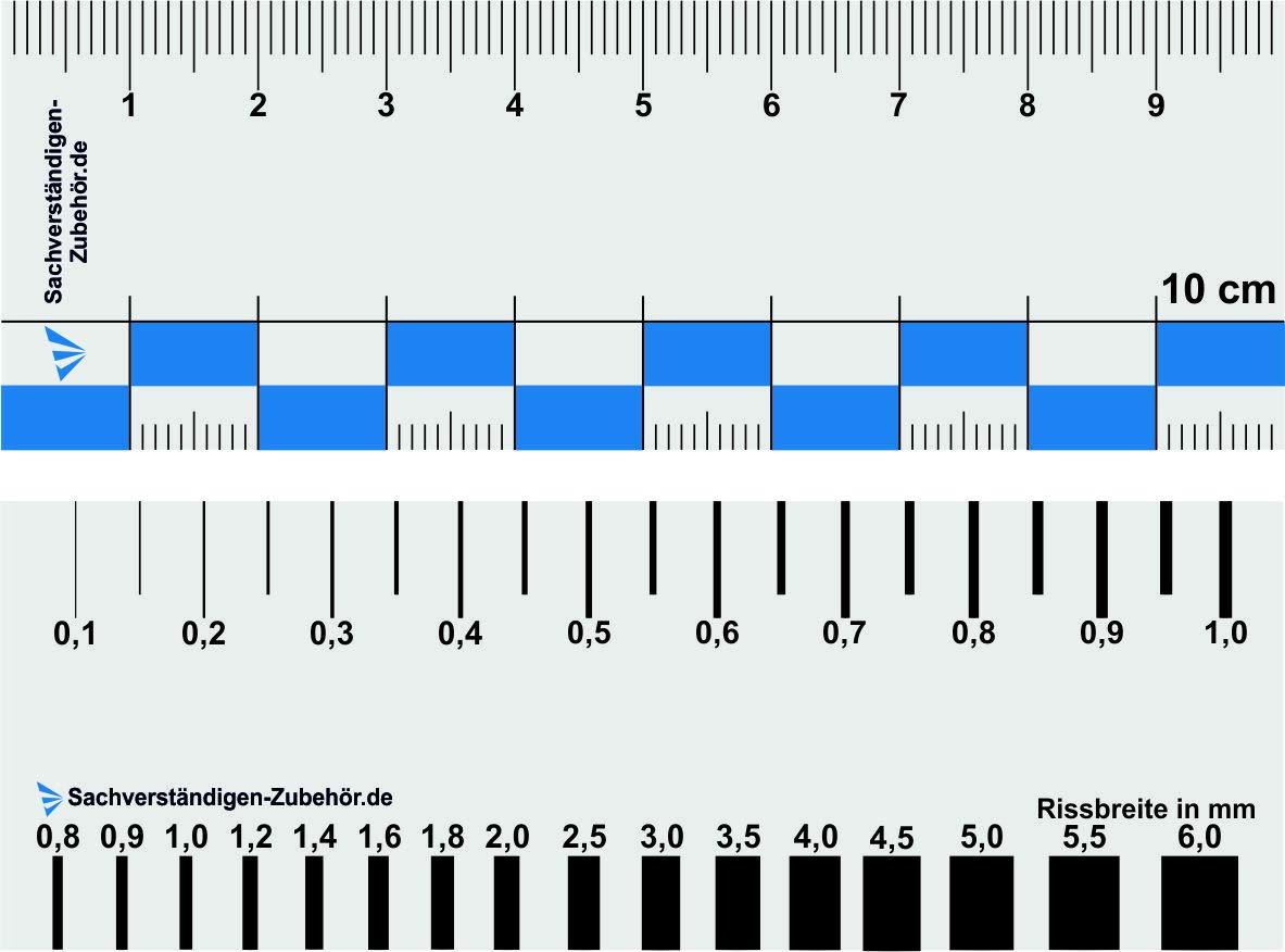 Accessoires experts lot de 4 /Équipement d/évaluateur Accessoires experts R/ègle magn/étique pour l/évaluation automobile R/ègle du crack et outils de mesure pour l/évaluation des propri/ét/és /&eacut