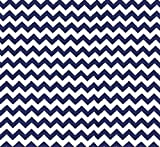SheetWorld Fitted Cradle Sheet - Royal Blue Chevron Zigzag - Made In USA