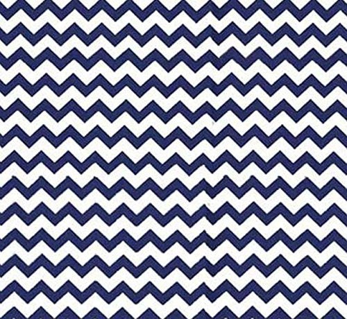 SheetWorld Fitted Cradle Sheet - Royal Blue Chevron Zigzag - Made In USA by SHEETWORLD.COM