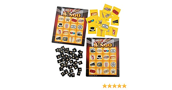 Party Fun Express Toys Movie Night Bingo Games 21pc Carnival /& Bingo for Party Games 21 Pieces