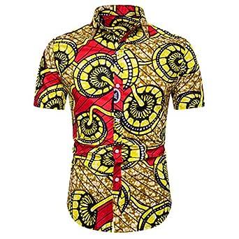 HucodeVan Camisas de Verano para Hombre Hawaii Camisas de Manga ...