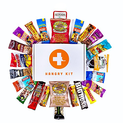 HANGRY KIT - Man Kit – Gift for Men – College Care Package – Full of What Men Crave – Nuts, Meat, Protein, and Snacks (Valentine Baskets For Men)