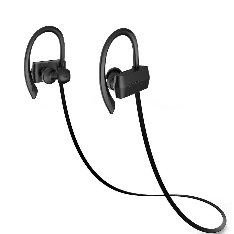 Esonstyle Auriculares Magnéticos Auriculares Inalámbricos Bluetooth Deporte con Microfono Resistente al Sudor para iPhone,iPad, PC y Android (Black): ...