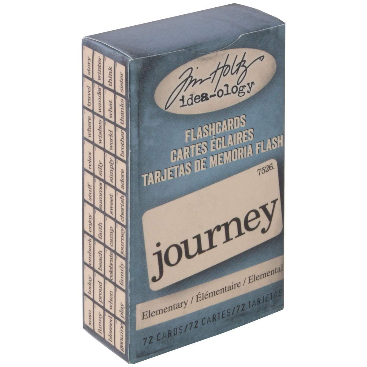 72 Double-Sided Cards TH93190 1.5 x 2.5 Inches Elementary Flash Cards by Tim Holtz Idea-ology