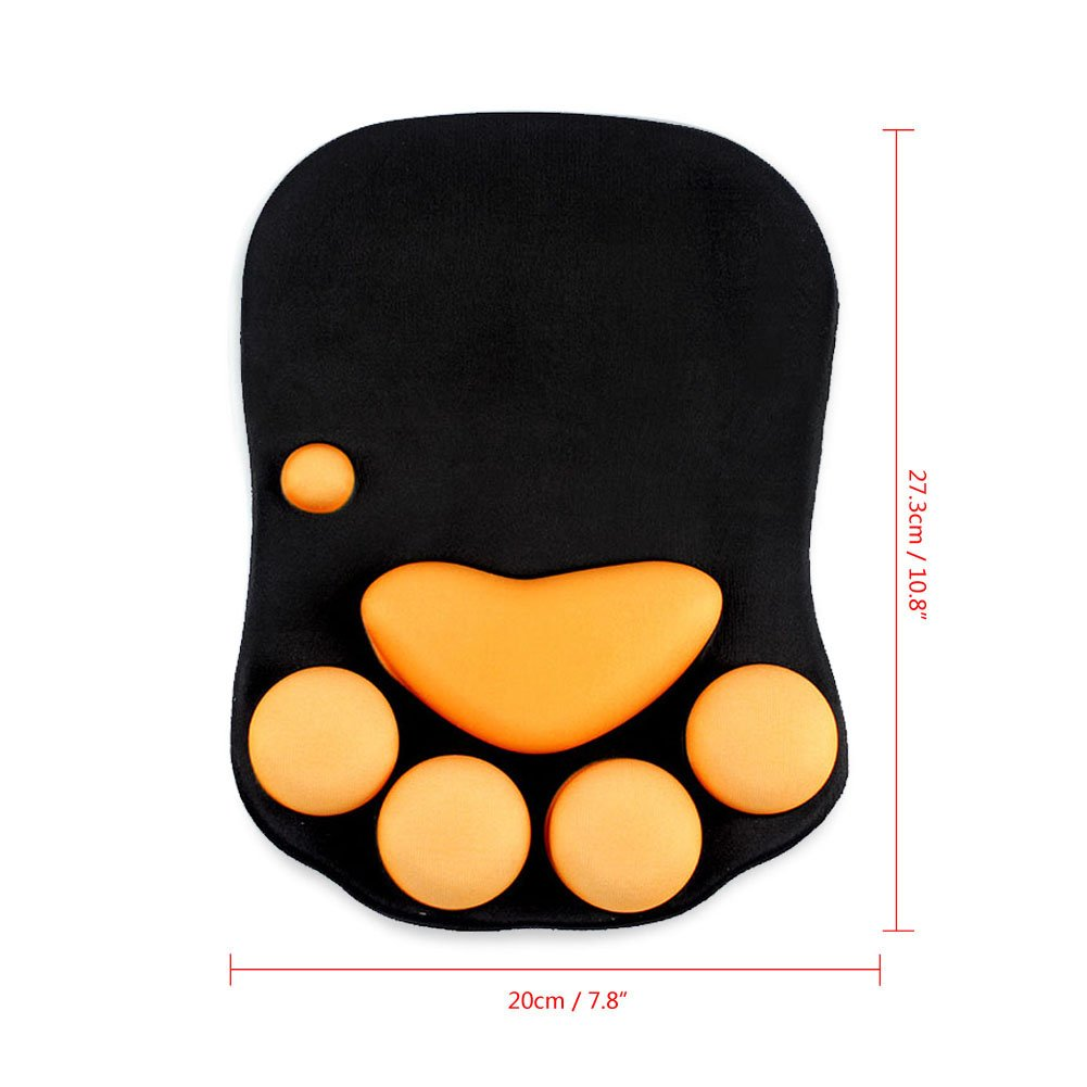 Cat Paw Mouse Pad with Wrist Support Soft Silicone Wrist Rests Wrist Cushion Comfort Mouse Pads Computer Mouse Mat Desk Decor YangMing