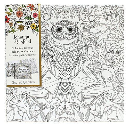Art Alternatives Johanna Basford Secret Garden Coloring Canvas - Owl, (For Best Buys Code Garden Discount)