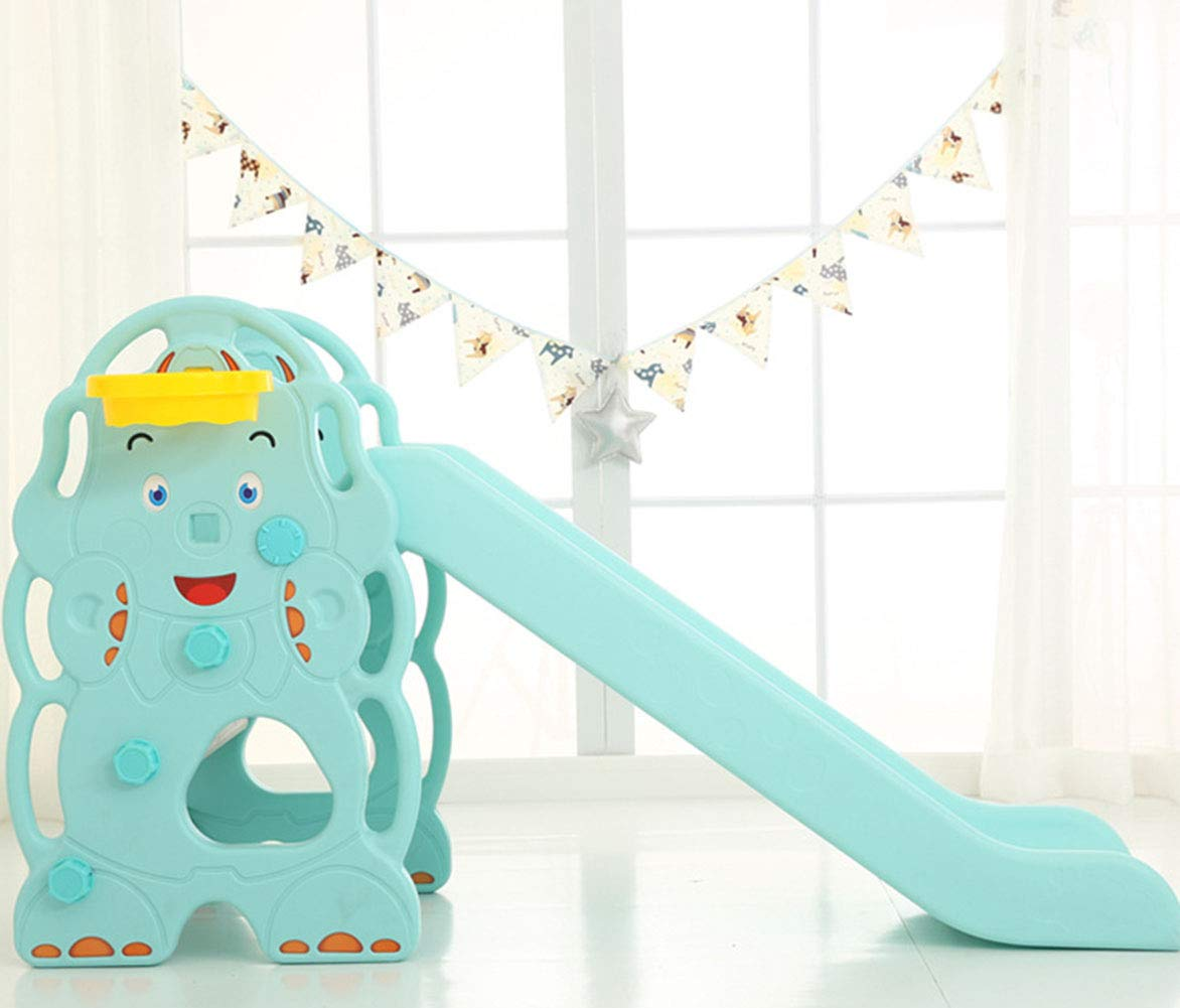 Toddler Slide and Climber Indoor Outdoor Climbers Slides for Toddlers Folds for Easy Storage Infant Climbers Kids Playground 130x36x80cm Blue by Thole (Image #3)