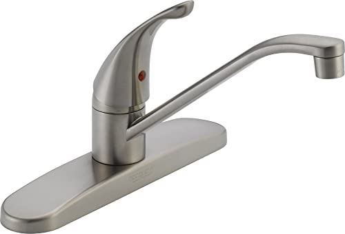 Peerless Single-Handle Kitchen Sink Faucet, Stainless P110LF-SS