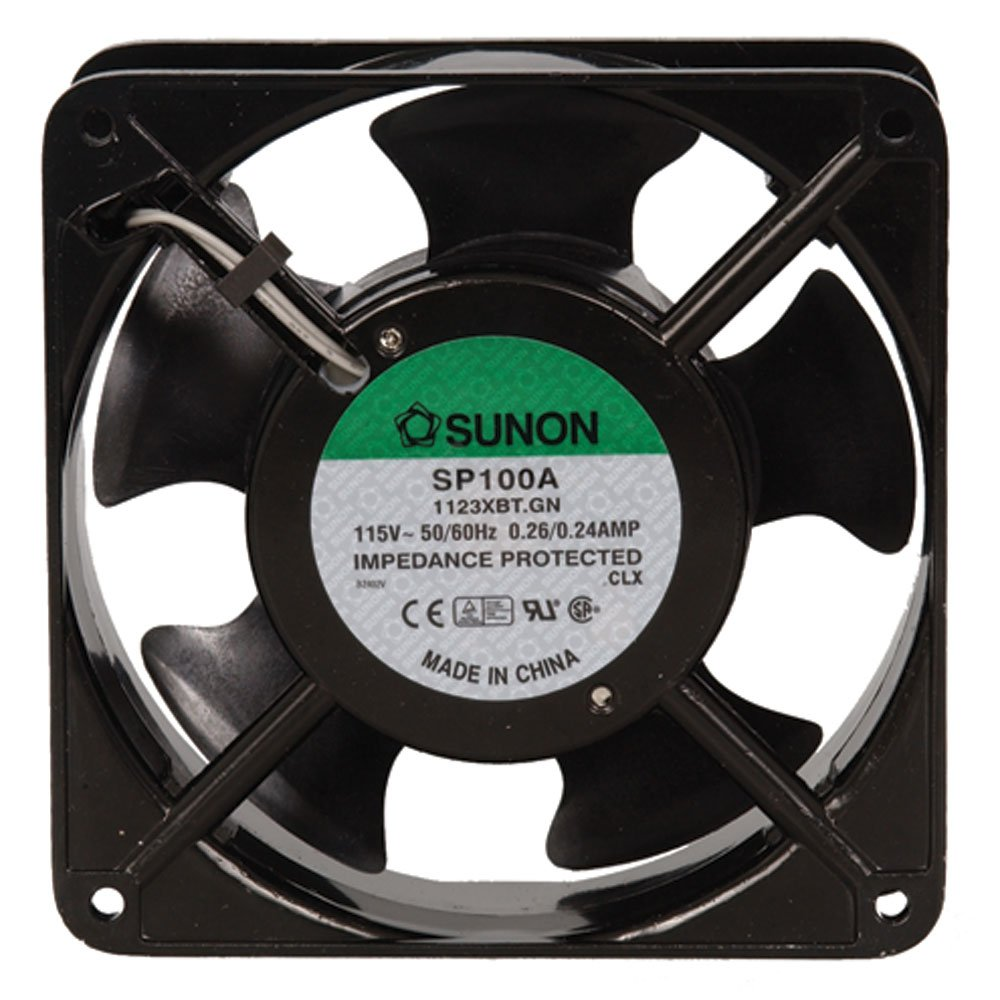 SUNON SP100A-1123XBT-R AC Fan Ball 117 CFM 50dB Flange Mount, 115V, 60Hz, 0.24 Amp, 20W, 3150 RPM, 1.5' 1.5 102884