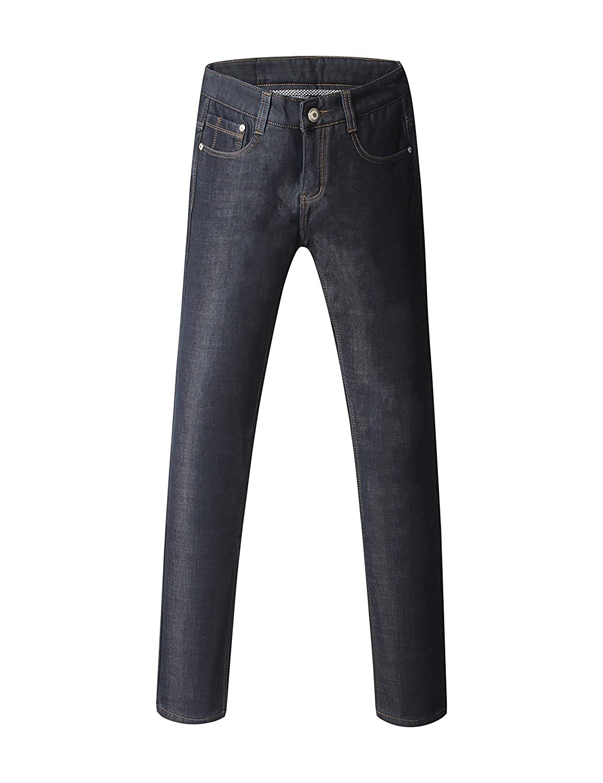 ba7553a8c0 Top1: Demon hunter Men's Straight Leg Flannel Lined Jeans S80L1