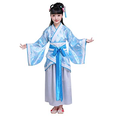 cc4bfbc0e Ez-sofei Girls' Ancient Chinese Traditional Hanfu Dress Han Dynasty Cosplay  Costume (130