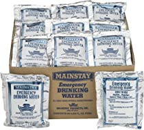 Mainstay Emergency Drinking Water 60 Packets/case 5yr Shelf Life