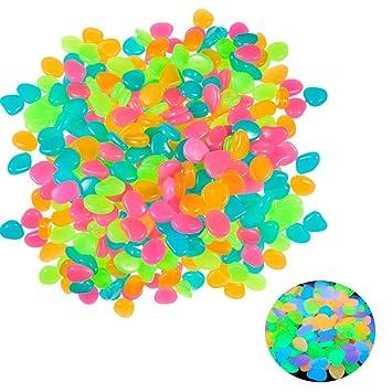 Piedras Decorativas, 100 Unidades, Piedras Brillantes en la Oscuridad, Piedras Luminosas Coloridas para