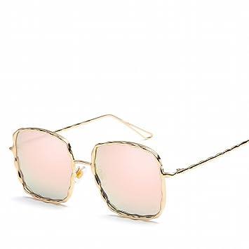 Spirale Muster Metall Sonnenbrille Farbe Film Dame Gläser , Goldrahmen Doppeltee C19