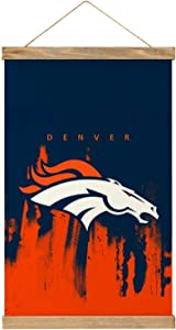 "MAATUD Denver Football Bronco Wooden Poster Frame Canvas Hangs a Picture Pop Art Prints Dorm Room Decor, Vintage Themed Home, Office, Apartment Poster Wall Decoration 20"" x 13"""