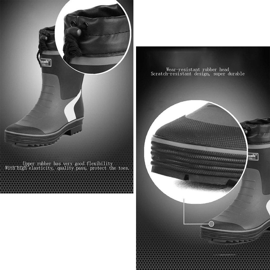 Industrie & Schuhe Handwerk Regenstiefel Männer Wasser Schuhe & Angeln Schuhe Mittelrohr wasserdicht Anti-Rutsch-Frühling und Sommer PVC-Schuh Rohr Höhe 10inch (Farbe : ROT, Größe : 45) ROT b43c38