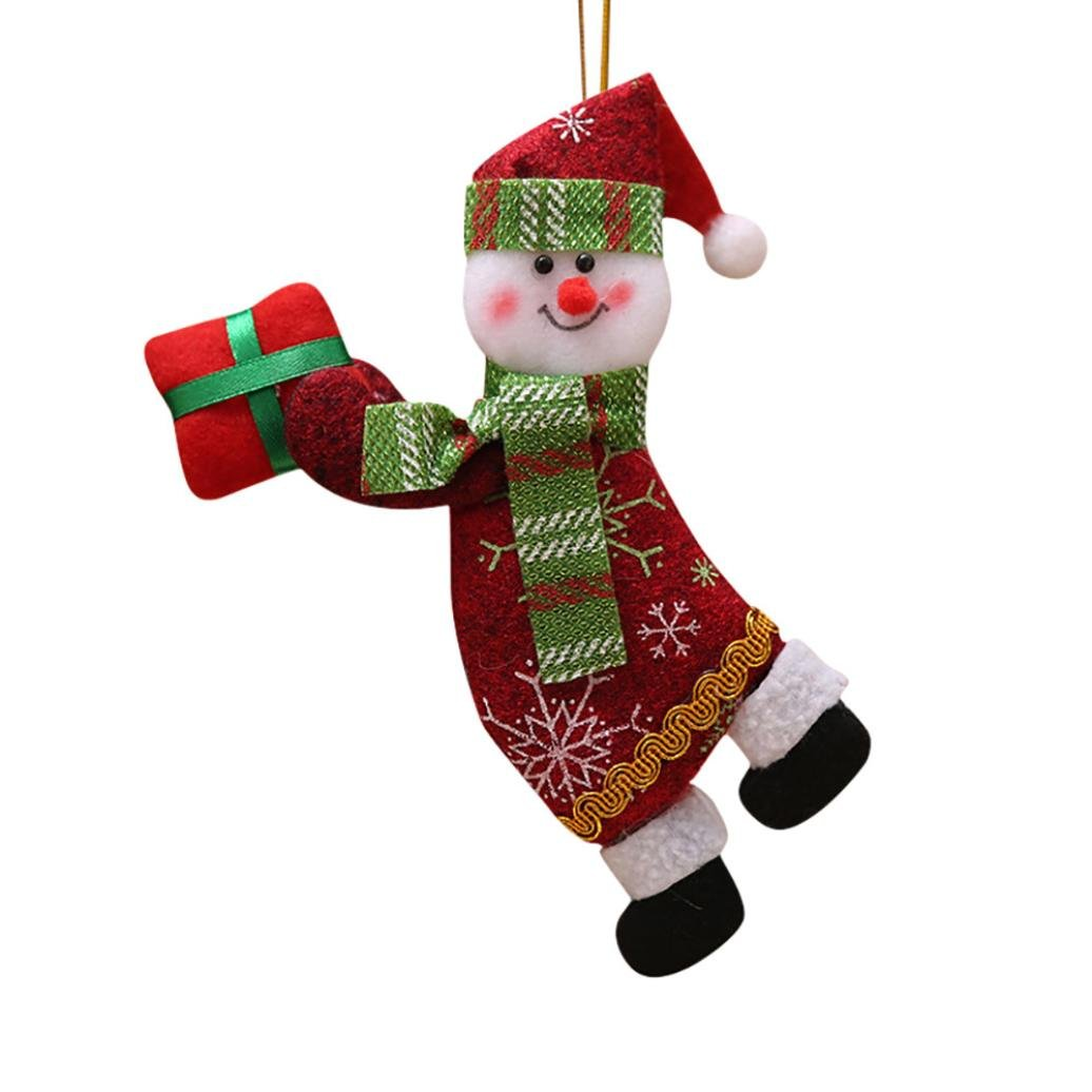 Christmas Decorations,Putars Merry Christmas Ornaments Gift Santa Claus Snowman Tree Toy Doll Hang Decorations for House Decorations