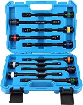 Neiko 02459A Torque Limiting Extension Bar 1//2-Inch Drive 8-Inch Length 10-Piece Set 90 to 200 Nm 65 to 150 Ft-Lbs