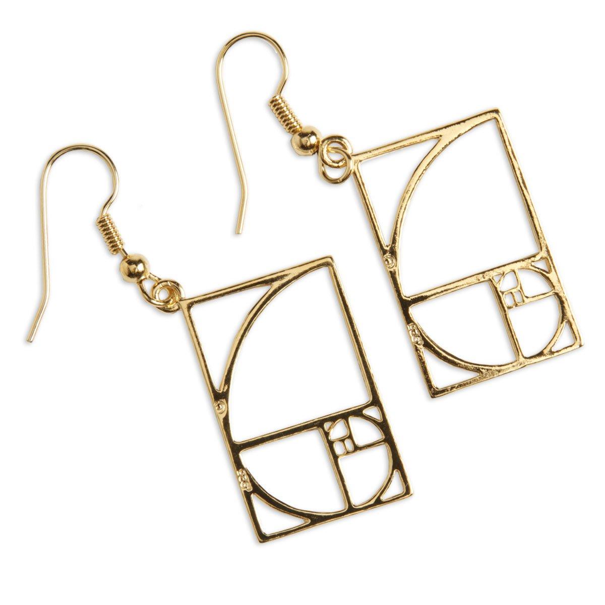 ComputerGear Math Jewelry Earrings Golden Mean Ratio Equation Geek Nerd STEM