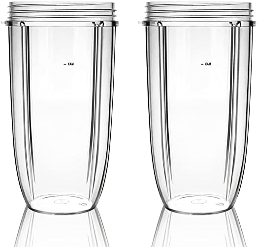 QueenTrade 2PCS 32OZ Large Replacement Cup For Nutribullet 600W & Pro 900W Blender/Mixer (NOT FIT Magic Bullet or Nutri Ninja)