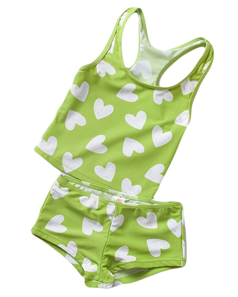 Muzboo Baby Girls Rash Guard Swimsuit Set Two-Piece Toddler Bikinis