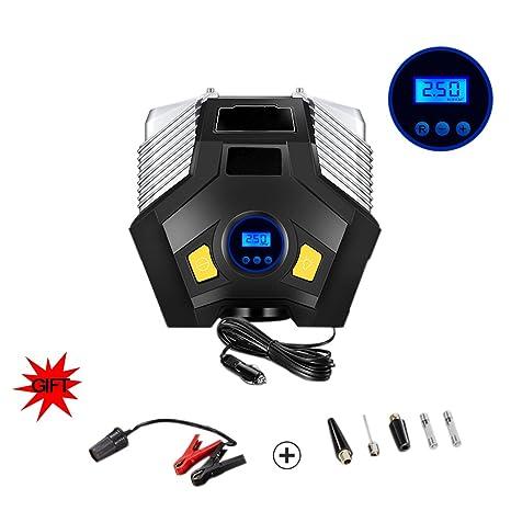 Compresor, Inflador De Neumáticos, Compresor De Aire, Portátil, Con Indicador Digital LED