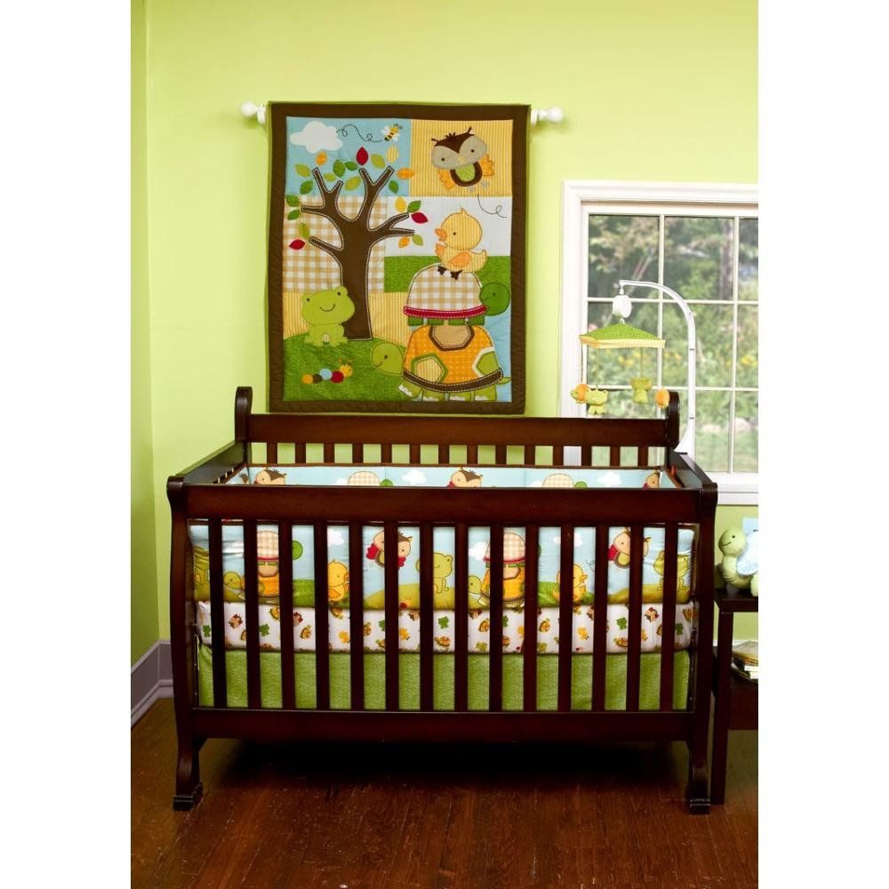Forest Critters 5 Piece Baby Crib Bedding Set by Step by Step by Pem America