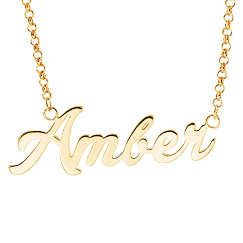 Amazon Com Laofu Silver Personalized Name Necklace Pendant