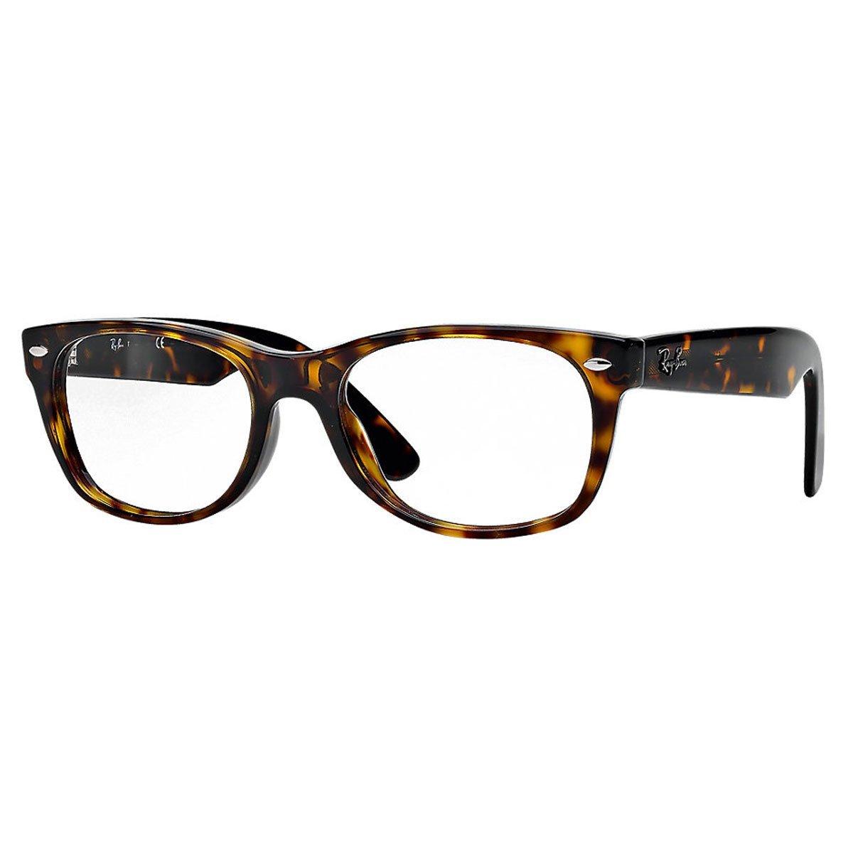Ray-Ban New Wayfarer Square Eyeglasses,Dark Havana,50 mm