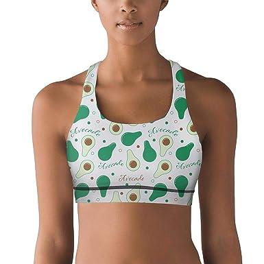 6587bb2048 Armsttm Women Racerback Sports Bras Avocado Plant Avocados Fresh Gym Yoga  Bra with Removable Pads