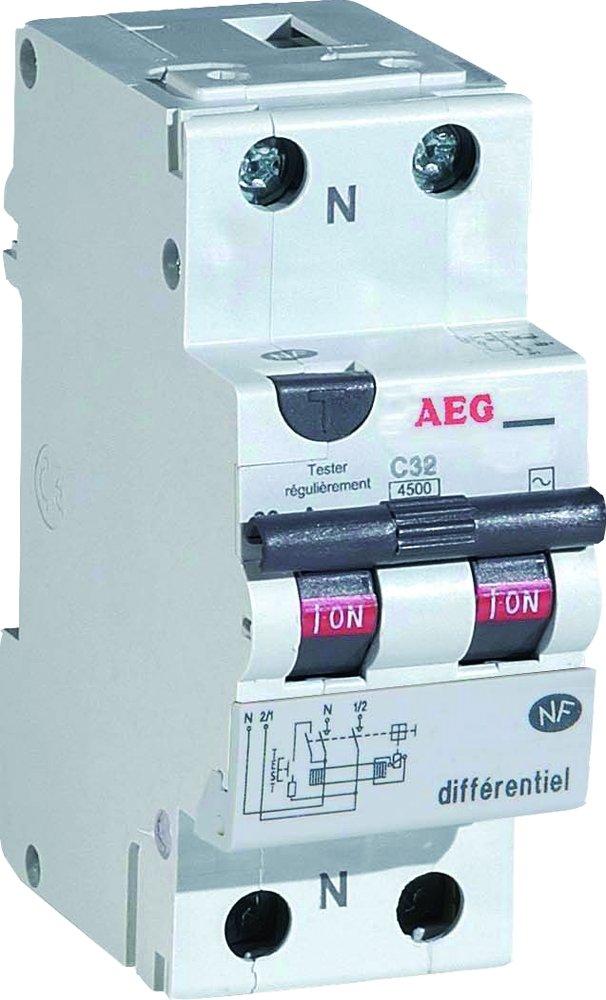 aeg aun608452 disjoncteur diffrentiel 16 a 30 ma type ac amazonfr commerce industrie science - Disjoncteur Differentiel Pour Salle De Bain