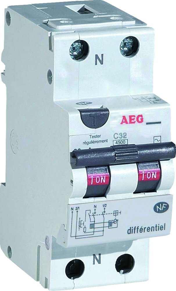 Aeg Aun Disjoncteur Diffrentiel  A  Ma Type Ac AmazonFr