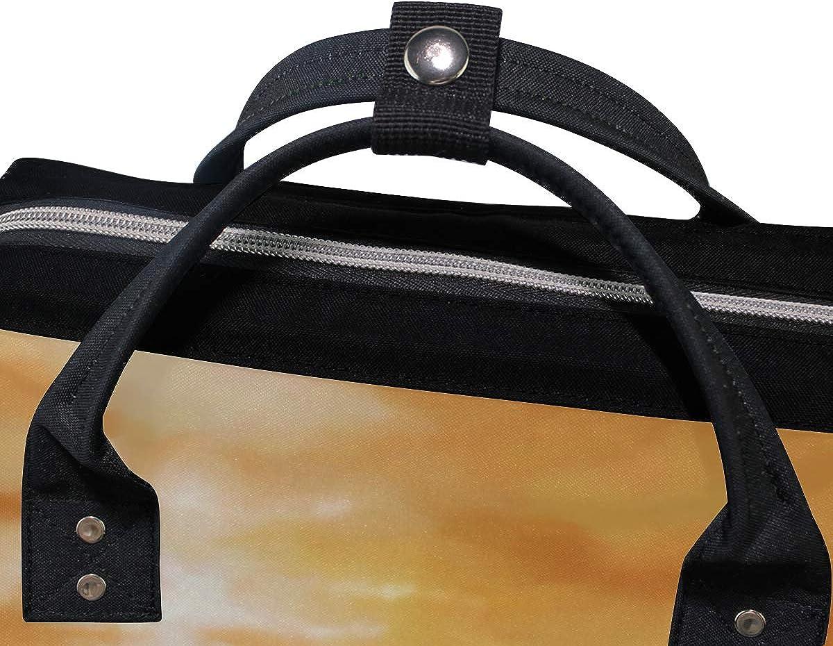 imobaby White Horses Galloping Changing Bags Large Capacity Handbags Canvas Shoulder Bag Backpack
