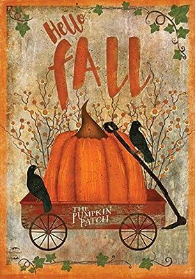 "Prized Pumpkin Fall Garden Flag Primitive Autumn 12.5"" x 18"" Briarwood Lane"