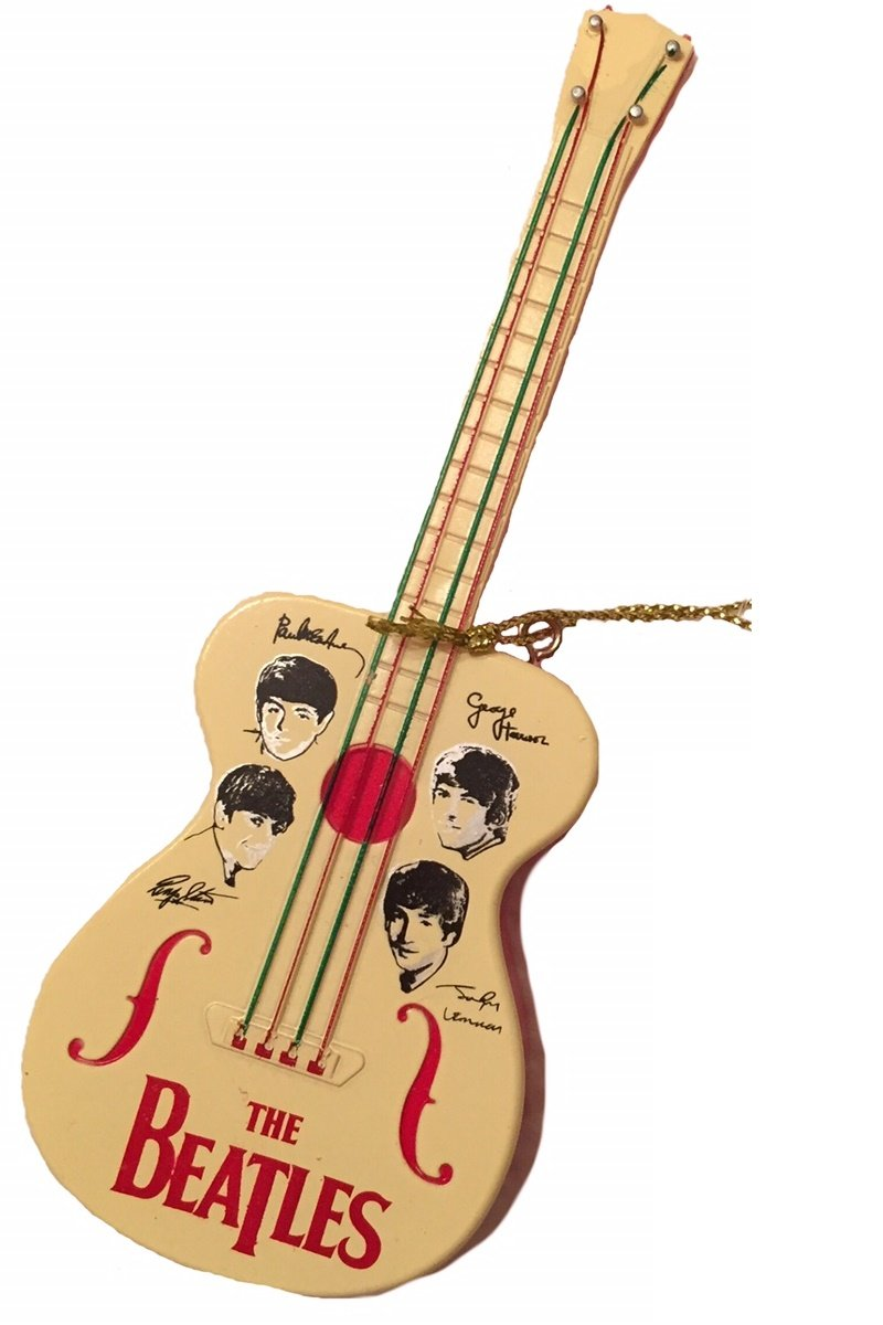 The Beatles - Retro Toy Guitar Christmas Tree Ornament
