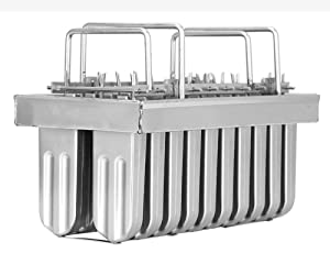 20pcs Stainless Steel Molds for Popsicles Maker Ice Lolly Ice Cream Pops Bars Stick Holder (E)