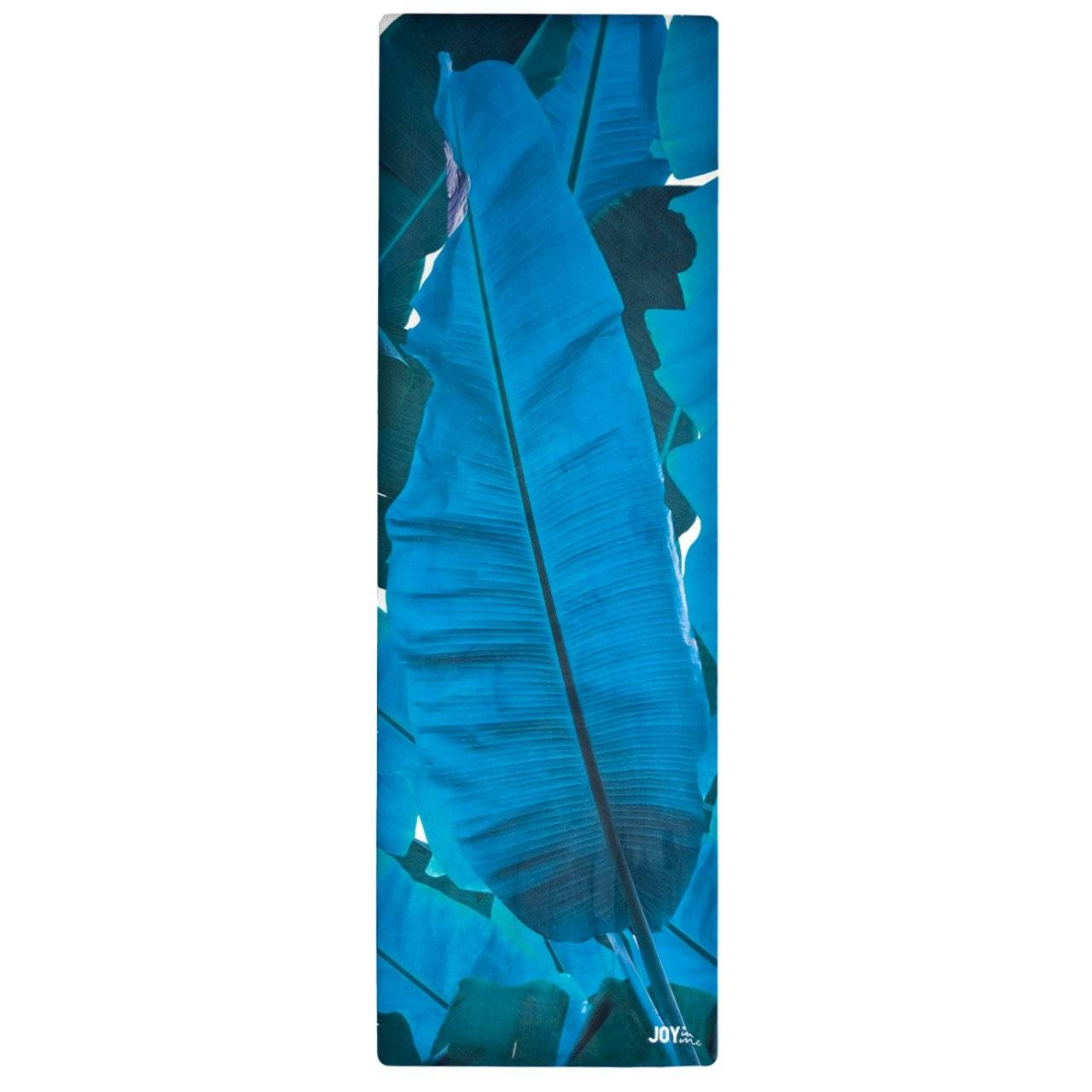 JOY in me Premium-Yogamatte Flow Lagoon Escape mit Trageschlaufe Naturkautschuk Rutschfest 183x63x0,3 cm