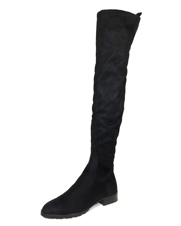 29c4753e8cc16 Zara Women's Flat Over-The-Knee Boots 6060/301: Amazon.co.uk: Shoes ...