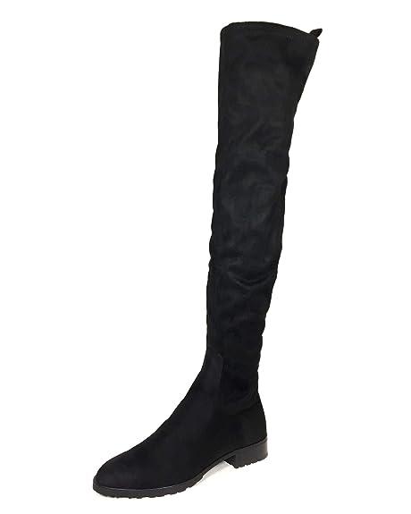 d52ed75e417 Zara Women s Flat Over-The-Knee Boots 6060 301  Amazon.co.uk  Shoes ...