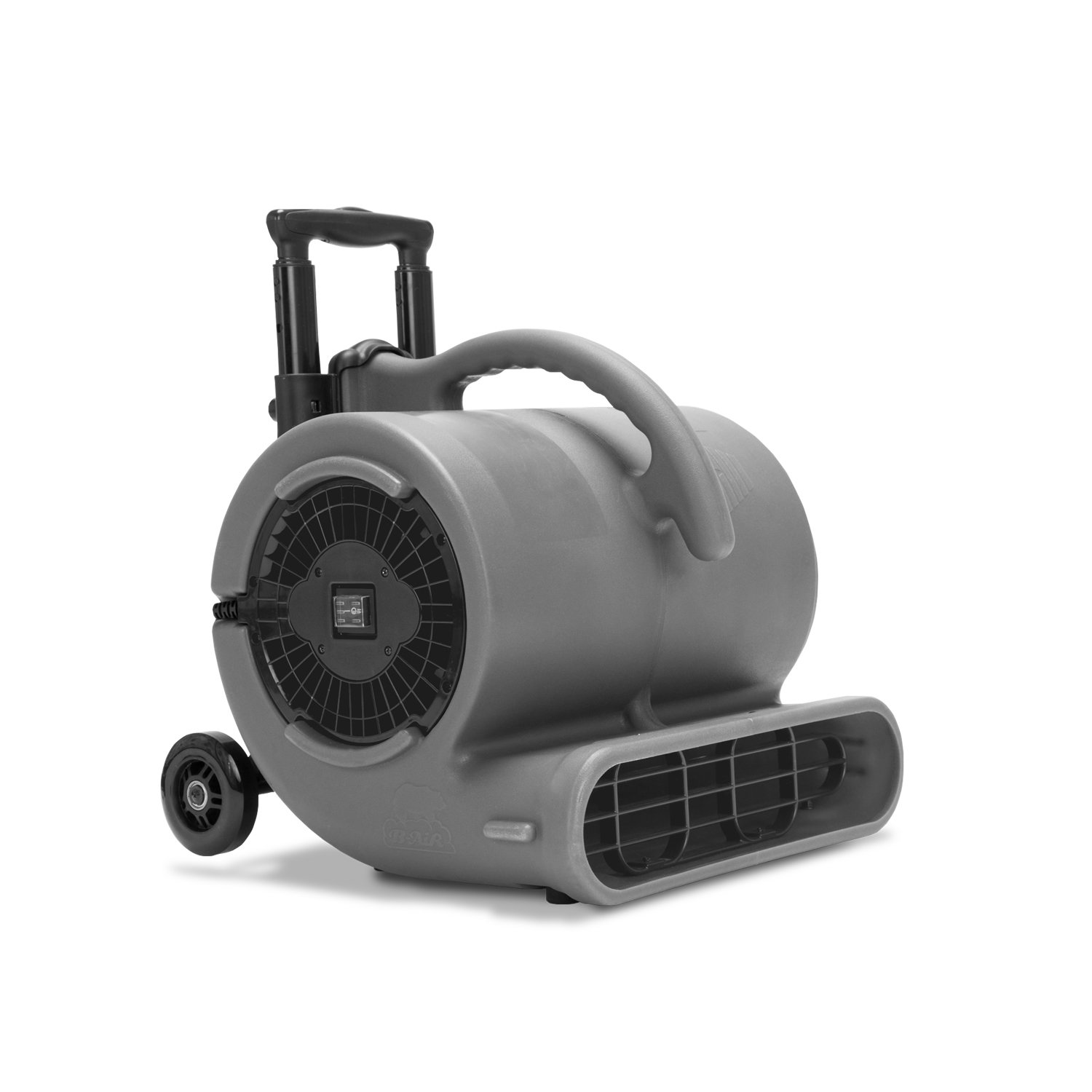 VP-50 Air Mover Floor Fan – 1/2 HP Carpet Dryer Stackable with Handle Bar for Janitorial Water Damage Restoration Gray