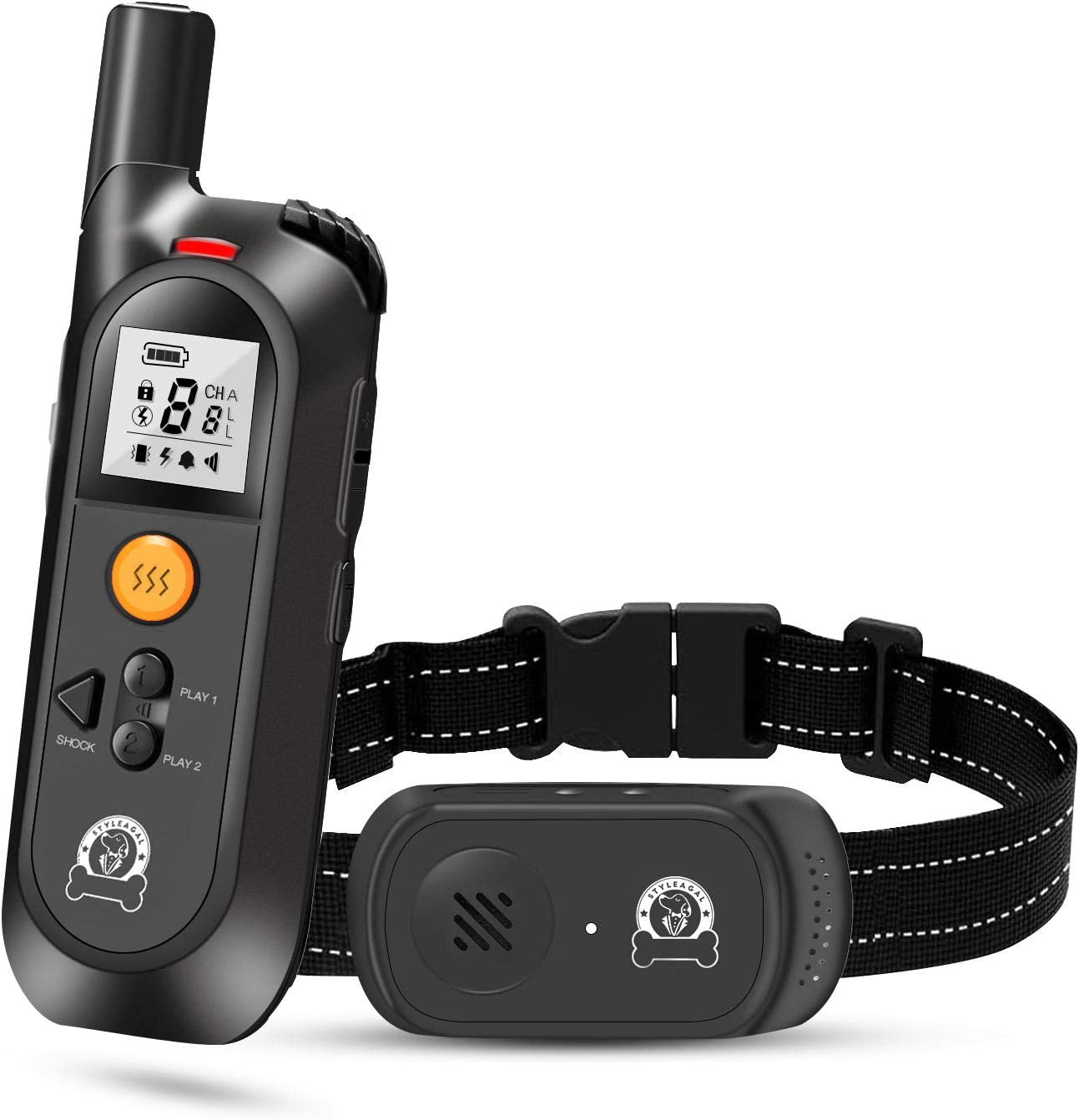 Waterproof Training Collar for Small Medium Large Dogs Dog Shock Collar with Remote STYLEAGAL Dog Training Collar 4 Training Modes Beep Vibration Shock and Recording