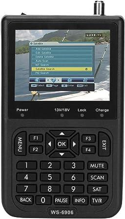 Buscador de señal satelital, Receptor del buscador de señal satelital con pantalla LCD de 3.5 pulgadas, Buscador de señal del medidor satelital ...