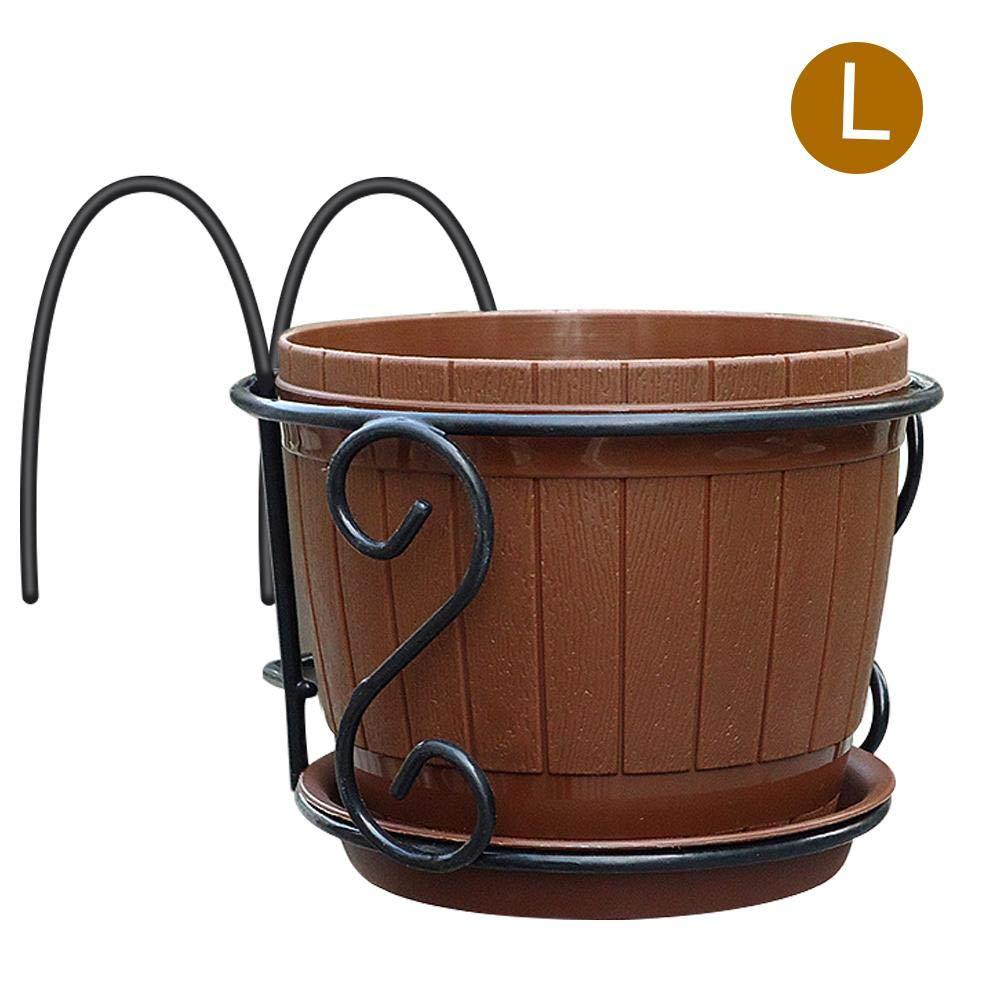 Sundlight Balcony Hanging Pot, European Iron Art Hanging Baskets Flower Pot Holder for Home Garden Patio Porch Fence