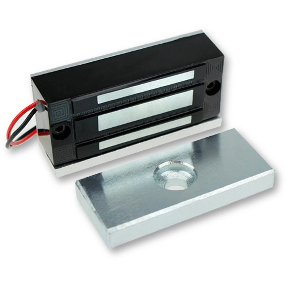 LIBO Cerradura magnética eléctrica 60KG/130lbs Control de acceso Cerradura electrónica de puerta de metal DC12V Fail Safe tipo NC para sistema de seguridad de una puerta (60kg/130lbs)