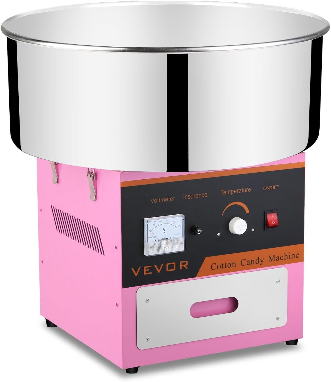 Autovictoria Máquina de Algodón de Azúcar Acero Inoxidable Máquina Eléctrica para hacer Algodón de Azúcar Cotton Candy Machine Commercial