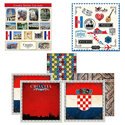 Scrapbook Customs Themed Paper & Stickers Scrapbook Kit, Croatia Sightseeing by Scrapbook Customs